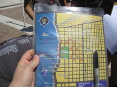 The Amazing Cozumel Race: Each team gets a pack with clues and a map