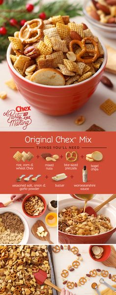 Make it a stress-free holiday party season with Homemade Original Chex Mix! A favorite for over 50 years, your family and friends will love this easily customizable mix. How will you make it your own?