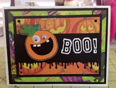 ~ Marilyn's Cricut Cards ~: Jack O'Latern Halloween Card