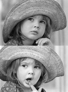 This beautiful little baby is Drew Barrymore ❤