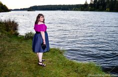 In today's post, Hailey reviews the Florence Flair Halter Top from Kiyonna and styles it four ways, showcasing this tops versatility by utilizing a variety of denim styles. - DivineMrsDiva.com #Kiyonna #KiyonnaStyle #KiyonnaPlusYou #CrocsSandal #Crocs #CharmingCharlie #lanebryant #lanestyle #eShakti #psblogger #plussizeblogger #styleblogger #plussizefashion #plussize #psootd #ootd #plussizeclothing #outfit #spring #summer #fall #style #plussizecasual #haltertop #denim #chambray #datenight