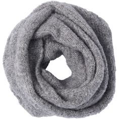 Cozy Bouclé Scarf ($295) ❤ liked on Polyvore featuring accessories, scarves, grey, gray shawl, gray scarves, grey scarves and grey shawl