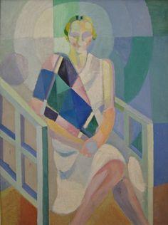Tableaux sur toile, reproduction de Delaunay, Portrait de Madame Heim
