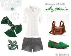 """Disneyworld Outfits: Slytherin"" by daisyelyse on Polyvore"