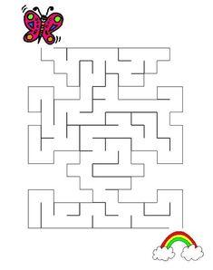 Nájdi cestu - Album používateľky zanka29 - Foto 38 Maze Puzzles, Word Puzzles, Maze Worksheet, Mazes For Kids, Kindergarten Reading, School Humor, Kindergarten Worksheets, Coloring For Kids, Preschool Activities