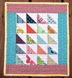 triangle mini quilt