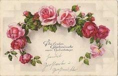 Vintage Ephemera, Vintage Cards, Vintage Postcards, Vintage Images, Rose Pictures, Paper Roses, Rose Design, Vintage Flowers, Retro