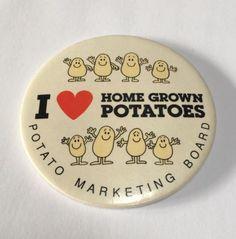 Vintage-Potato-Marketing-Board-Badge-I-Love-Home-Grown-Potatoes-Large-Size-VGC