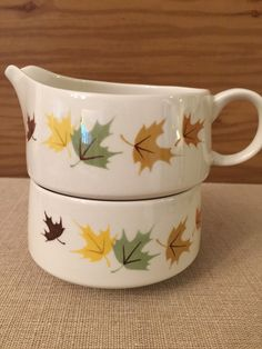 A personal favorite from my Etsy shop https://www.etsy.com/listing/254261022/franciscan-ware-indian-summer-creamer
