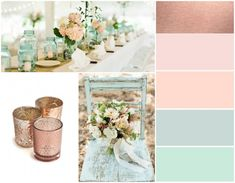 Pink Rose Gold Wedding Color Schemes wedding color palette inspiration blush and bow ties amandas we Rose Gold Color Palette, Gold Color Palettes, Gold Color Scheme, Colour Schemes, Gold Colour, Maroon Colour, Color Combinations, Mint Color, Peach Palette