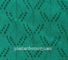 vzor 25 Crochet Stitches Patterns, Stitch Patterns, Knitting Patterns, Knitting Tutorials, Knit Crochet, Blanket, Lace, Knitting Sweaters, Apollo