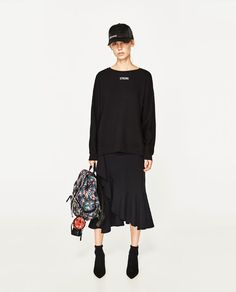 ZARA - WOMAN - SWEATSHIRT WITH BACK CORDS