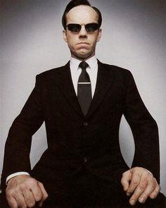 Hugo Weaving as Agent Smith in The Matrix.