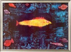 The Goldfish, 1925 by Paul Klee as a Canvas Print from Fine Art Storehouse Photo Prints. In Paul Klee painted an intriguing piece of art entitled 'The Golden Fish Mondrian, Paul Klee Artwork, Canvas Art Prints, Canvas Wall Art, Statues, Golden Fish, Art Abstrait, Cool Posters, Les Oeuvres