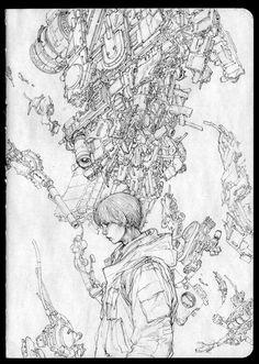 ArtStation – Drawing Note – Jong Hwan – Art Drawing Tips Cool Sketches, Drawing Sketches, Art Drawings, Drawing Tips, Comic Books Art, Comic Art, Hip Hop Art, Futuristic Art, Cyberpunk Art