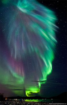 The electric heavens! Amazing #aurora borealis photography above the Norwegian skies. #northernlights