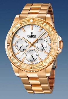 Branded Festina Watches for man and woman at discounted prices, guaranteed and original Watches by Festina Unisex, Gold Watch, Omega Watch, Chronograph, Watches For Men, Boyfriend, Rose Gold, Accessories, Collection