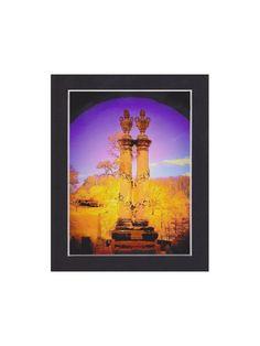 Cemetery monument, Harrisonburg Virginia, ready to frame 4x6 art print in 5x7 black acid free mat. $12.00, via Etsy.