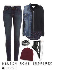 """""""InFamous: Second Son Delsin Rowe Inspired Outfit"""" by whispers-in-the-dark01 ❤ liked on Polyvore featuring Thakoon, Paige Denim, James Perse, Vans, maurices, T By Alexander Wang, women's clothing, women, female and woman"""