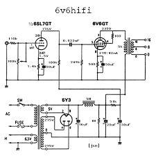 Direct-Coupled 6V6 Cathode Follower Tube Amp Schematic