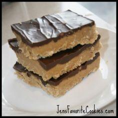 Peanut Butter Bars (No Bake!)