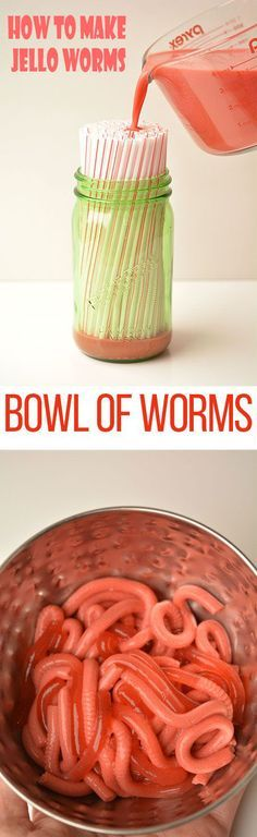Simple Recipes Bowl of Worms: How to Make Jello Worms