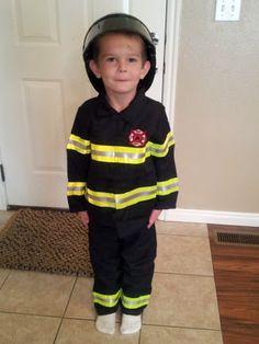 diy kids firefighter costume - Google Search