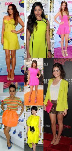 Auch Hollywoodstars lieben Neon-Farben! #celebrity #neonoutfit #redcarpet #selenagomez