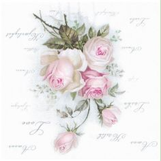 Napkin Decoupage, Decoupage Paper, Wire Jewelry Designs, Victorian Art, Transfer Paper, Vintage Paper, Flower Power, Watercolor Art, Flower Arrangements