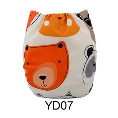 Alva Baby New Printed Design Reuseable Washable Pocket Cloth Diaper Nappy + 2 Inserts YD07