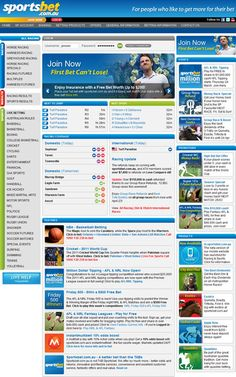 SportsBet, for people who like to bet, on the net. Great ads and great odds with tons of sports and races to punt on.