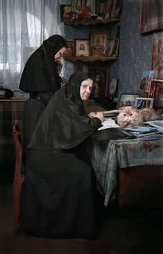 Serafim-Pokrovsky Convent, Leninsk-Kuznetsk, Kemerovo Oblast — Mother Superior Maria in her office