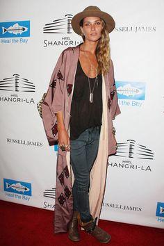 Erin Wasson in a kimono.