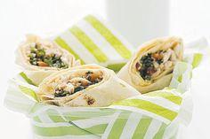 Chicken, hummus and tabouli wrap