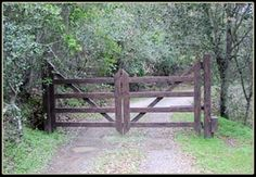 Automated Farm and Ranch Gates | ... ranch style steel driveway gate. Powder-coated, faux finish. This gate