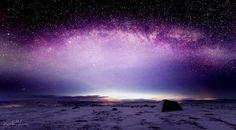 Imagen panorámica de la Vía Láctea.