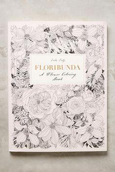 Anthropologie Floribunda Coloring Book