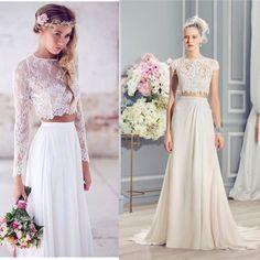 Модный тренд 2016 года- платья с от резным верхом! Наряд для... #wedding #weddings