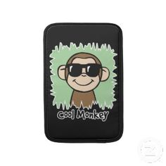 Cool Monkey with Sunglasses MacBook sleeve. Cute Valentine's Day Gifts for Her