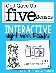 FREE Religious Emergent Reader about the 5 Senses - Freebielicious