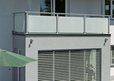 Balkongeländer Glas mit solider Alukonstruktion