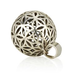 """Flower of Life Ball Pendant (Small) Sterling Silver 925 Size 1"""" Sacred Geometry #MAGAYA #Pendant"""