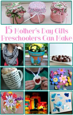 15 Mothers Day Gifts Preschoolers Can Make as featured at Childhood 101