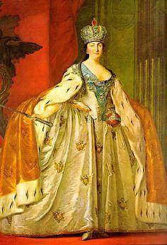 """Coronación solemne de Yekaterina II de Rusia, """"La Grande""""."""