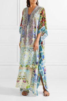 Camilla   My Marjorelle convertible crystal-embellished printed silk crepe de chine kaftan   NET-A-PORTER.COM