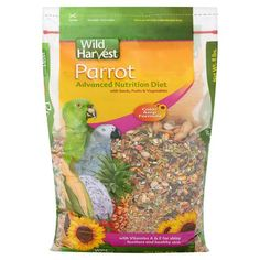 Wild Harvest Parrot Food with Ester E, 8 lbs Healthy Skin, Healthy Life, Beta Carotene, Bird Food, Vitamins And Minerals, Fruits And Vegetables, Health And Nutrition, Parrot, Harvest