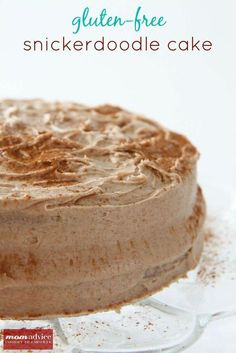 Gluten-Free Snickerdoodle Cake- An easy gluten-free cake made from a packaged yellow cake mix -MomAdvice.com.