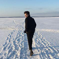 «❄️» #man #snow #let #it #snow #chrismas #oganesov #russia #march #love #boy #school #black #white