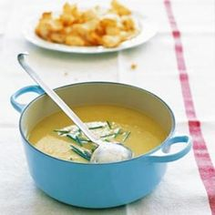 Rustic leek and potato soup