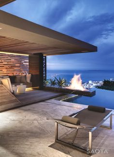 Follow @poetryinspired made by SAOTA, Cape Town in South Africa. Could you imagine any nicer fireplace?